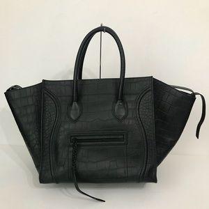 Authentic Celine Croc Phantom Luggage Black